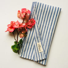 Load image into Gallery viewer, These beautifully striped Khadi cotton Napkins are simple and yet elegant.