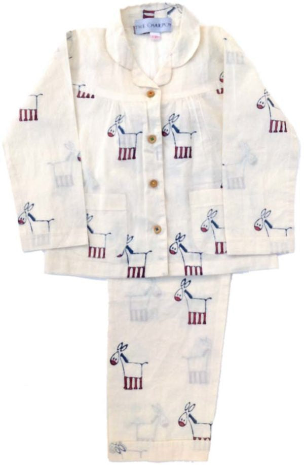 Organic Cotton Donkey Pyjamas