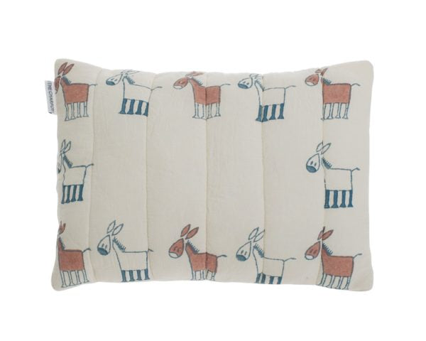 Organic Donkey Quilted Mini Cushion