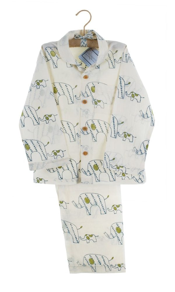 Organic Cotton Elephant Pyjamas