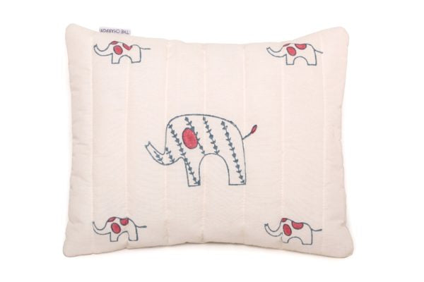 Organic Elephant Quilted Mini Cushion