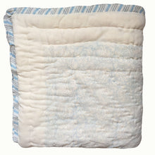 Load image into Gallery viewer, Blue Botanical And Grey Twigs Organic Quilted Blanket