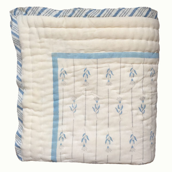 Organic & Hand Block Printed Quilted Blankets & Eiderdowns