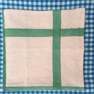 Lotus Checkered, Pure Cotton & Hand Dyed Napkin