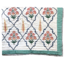 Load image into Gallery viewer, Tulips Motif Hand Block Printed Quilt/Eiderdown