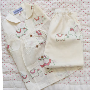 Organic Cotton Hippo Pyjamas