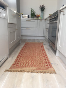 Brick Red Jute Runner
