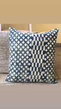 Load image into Gallery viewer, Stars in Indigo Dhurrie Hand block printed Cushion