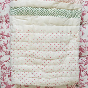 Organic Mama Hippo and Baby Hippo Quilted Mini Blankets