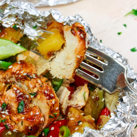 Grilled Chicken & Pineapple Hiking Camping Meals - Eat Proper Good