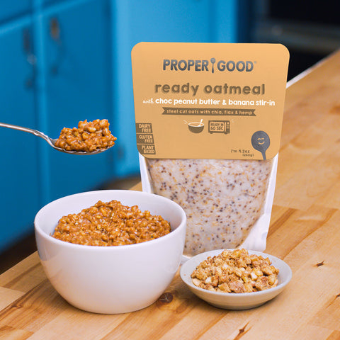 Instant oatmeal in the microwave - Eat Proper Good