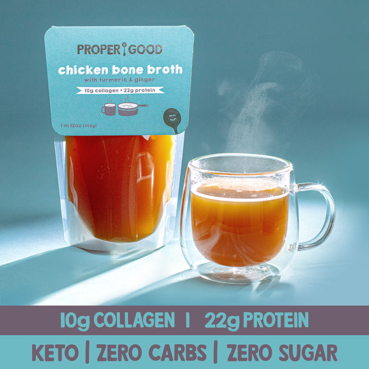 Bone Broth Cleanse Pack - 12 x Chicken Bone Broth - Proper Good