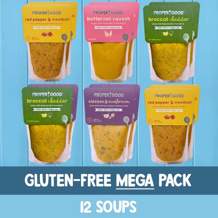 Gluten Free Mega Pack - 4 Red Pepper, 3 Broccoli, 3 Chicken Mushroom, 2 Squash - Proper Good