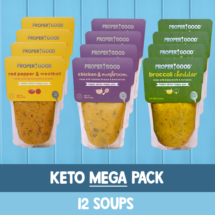 Keto Mega Pack - 4 Chicken Mushroom, 4 Red Pepper, 4 Broccoli - Proper Good