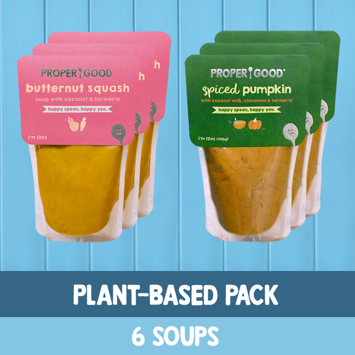 Plant Based Pack - 3 Squash, 3 Pumpkin - Proper Good
