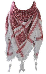 Original Hirbawi ® Red and White Kufiya (Made in Palestine) - Al'ard USA