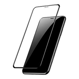 Baseus iPhone Xr 0.3 mm Full coverage curved T-Glass Protector Black (SGAPIPH61-KC01)