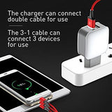 Baseus Travel Charger Letour Dual USB and 3-in-1 Cable (Apple+Micro+Type-C) 2.4A White (TZCL-D92)
