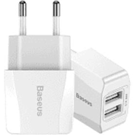 Baseus Travel Charger Mini Dual USB 2.1A White (CCALL-MN02)