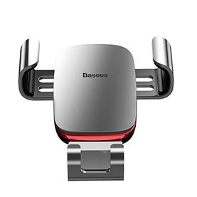 Baseus - Chargeur Allume Cigare avec double USB Metal Age Gravity Phone Holder (Air outlet Version)