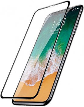 Baseus iPhone X 0.3mm Silk-screen All-screen Tempered Glass Black (SGAPIPHX-KC01)