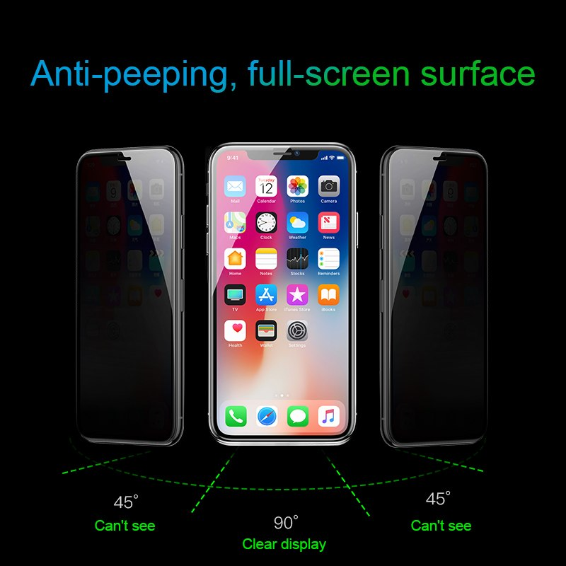 Baseus iPhone X 0.3 mm Full-Glass Anti-peeping T-Glass Transparent (SGAPIPHX-LK02)