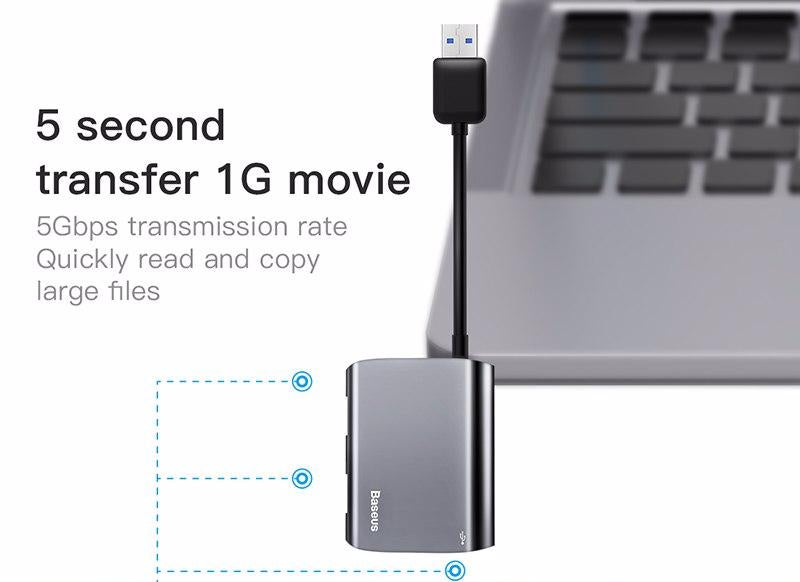 Baseus Adaptateur  HUB Enjoyment series USB to 3xUSB 3.0