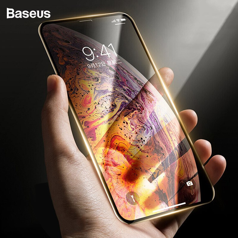 Baseus iPhone Xr 0.23 mm curved-screen T-Glass CR edges A-Bluelight Black (SGAPIPH61-TE01)