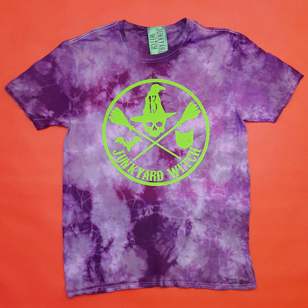 "Junkyard Witch Circle ""Purple Mist"" T-shirt Large"