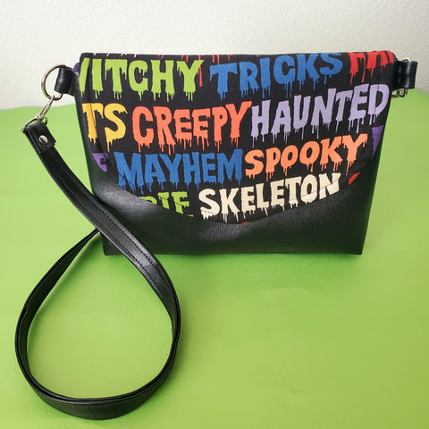 Vegan Horror Crossbody Purse