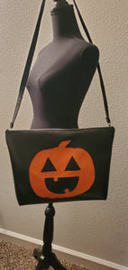 Large Cute O' Lantern Zipper Tote