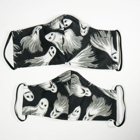 Spooky Goth Ghosts Face Mask - Adult