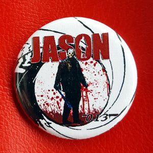 Jason Voorhees 013 1.25 inch Pinback Button or Magnet