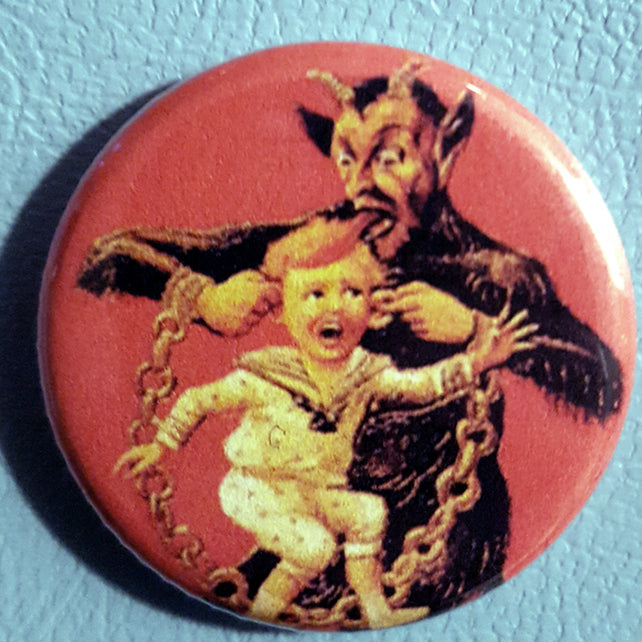 Krampus #10      1.25 inch Pinback Button or Magnet