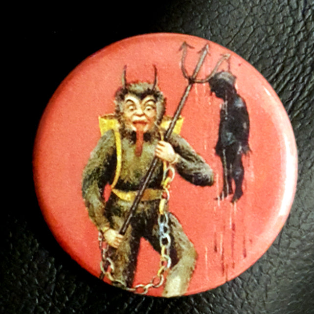 Krampus #11      1.25 inch Pinback Button or Magnet