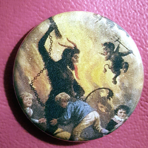 Krampus #14      1.25 inch Pinback Button or Magnet