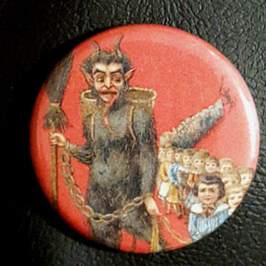 Krampus #15      1.25 inch Pinback Button or Magnet