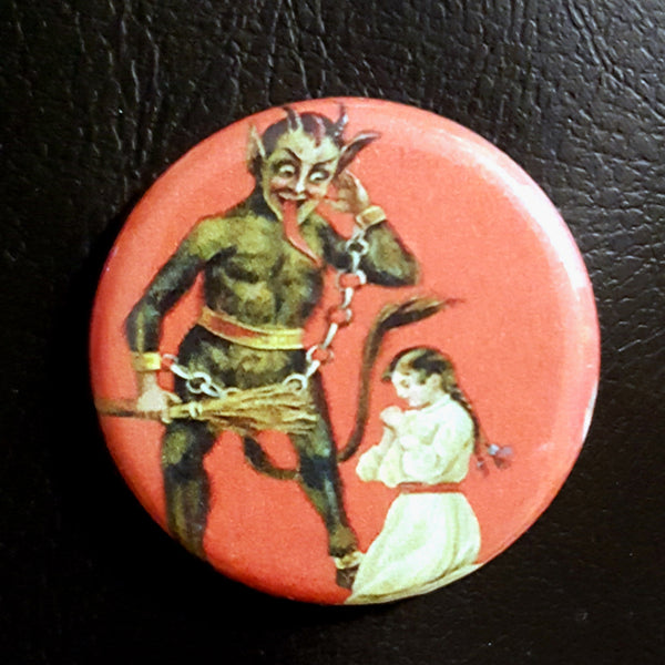 Krampus #6      1.25 inch Pinback Button or Magnet