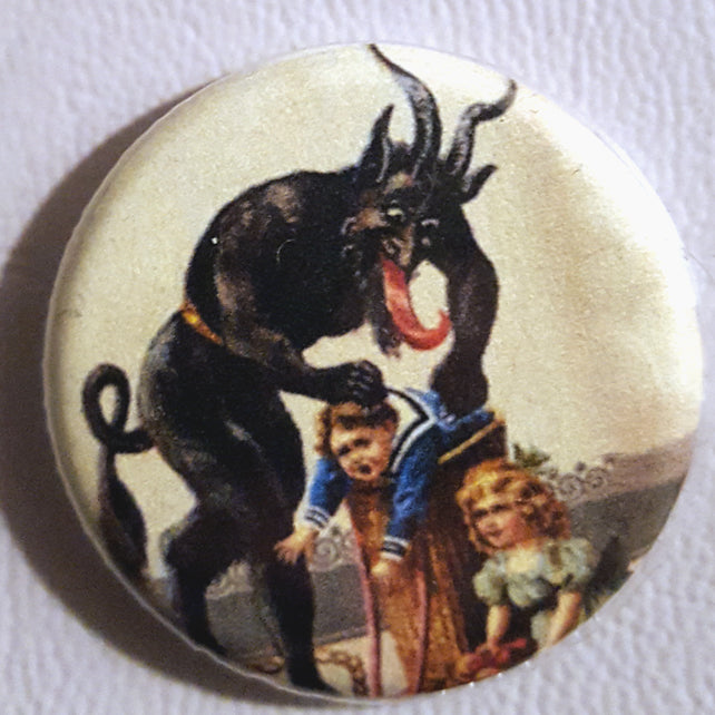 Krampus #9      1.25 inch Pinback Button or Magnet