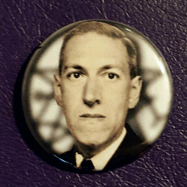 H.P. Lovecraft 1.25 inch Pinback Button or Magnet
