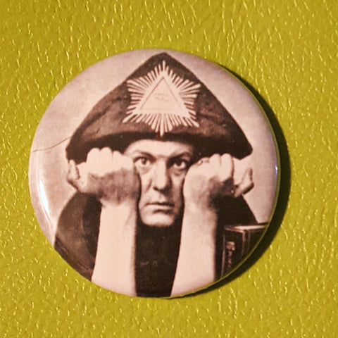 (Not so) Young Aleister Crowley 1.25 inch Pinback Button or Magnet