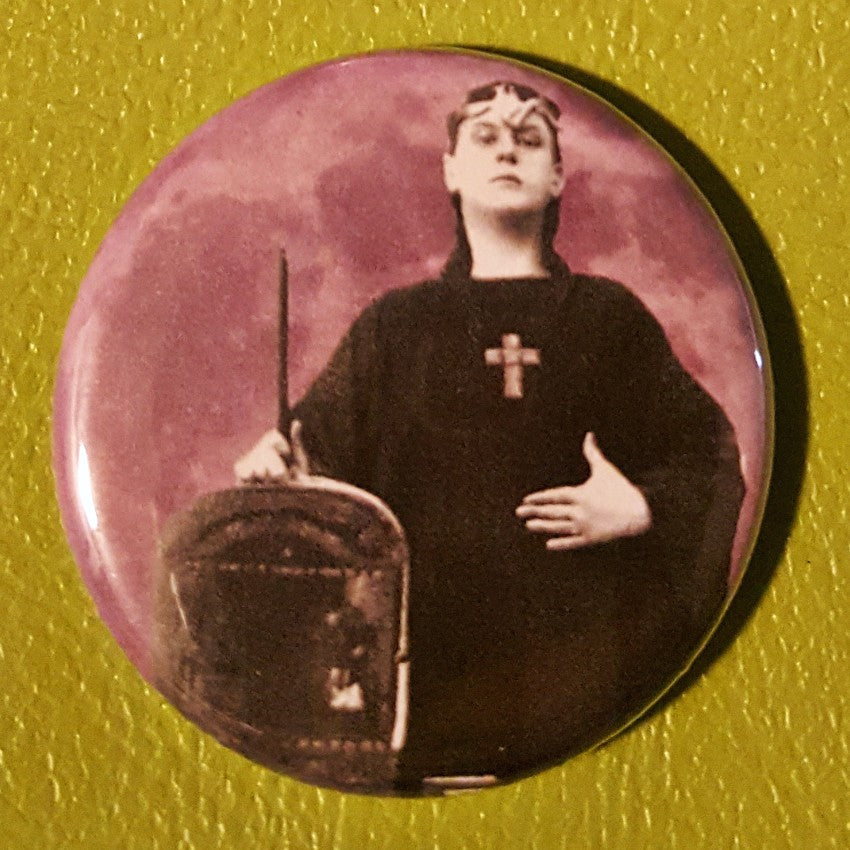 Young Aleister Crowley 1.25 inch Pinback Button or Magnet