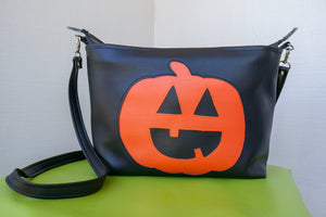 Cute O' Lantern Medium Zipper Tote