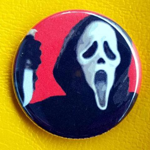 Ghostface Scream 1.25 inch Pinback Button or Magnet