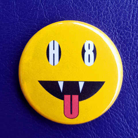 H8 U Smiley 1.25 inch Pinback Button or Magnet