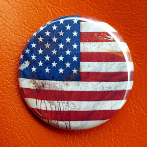 Weathered Flag 1.25 inch Pinback Button or Magnet