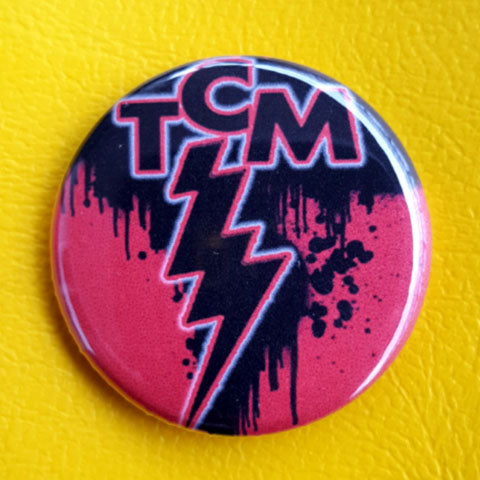 TCM Baby! Texas Chainsaw Massacre Storm Logo 1.25 inch Pinback Button or Magnet
