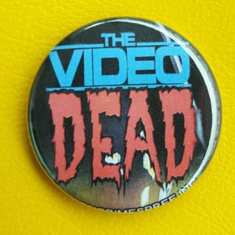 The Video Dead Vintage Vibe 1.25 inch Pinback Button or Magnet