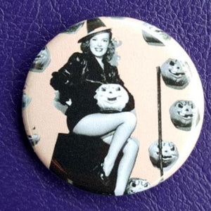 Witch Pin-Up #1 Vintage Vibe 1.25 inch Pinback Button or Magnet