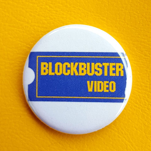 Vintage Vibe Blockbuster 1.25 inch Pinback Button or Magnet
